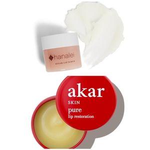 HANALEI Sugar Lip Scrub  AKAR Pure Lip Restoration